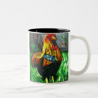 IMG_6760, cock-a-doodle-do Two-Tone Coffee Mug