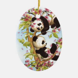 IMG_7386.PNG  cute and colorful panda designed Ceramic Ornament