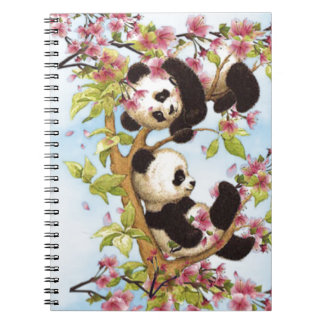 IMG_7386.PNG  cute and colorful panda designed Spiral Note Books