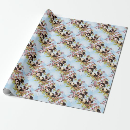 IMG_7386.PNG  cute and colourful panda designed Wrapping Paper