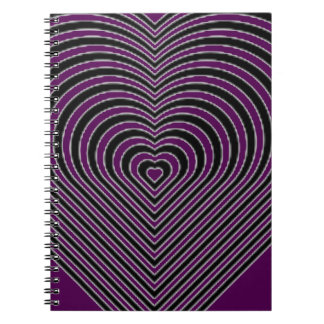 IMG_7745.PNG.customizable Heart maze design Spiral Notebook