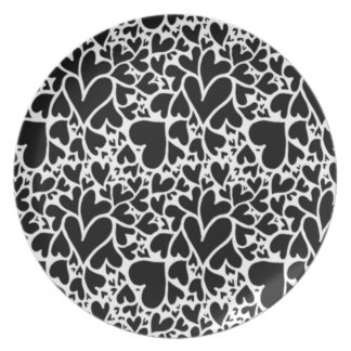 IMG_7746.PNG cute multi heart design customizable Dinner Plate
