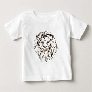 IMG_7779.PNG brave lion design Baby T-Shirt