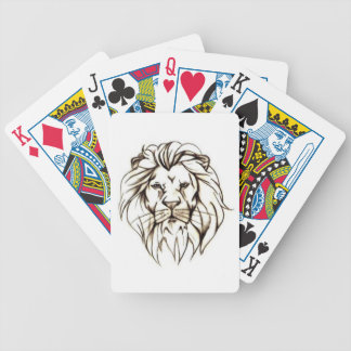 IMG_7779.PNG brave lion design Bicycle Playing Cards