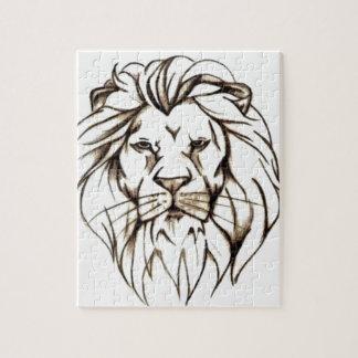 IMG_7779.PNG brave lion design Jigsaw Puzzle
