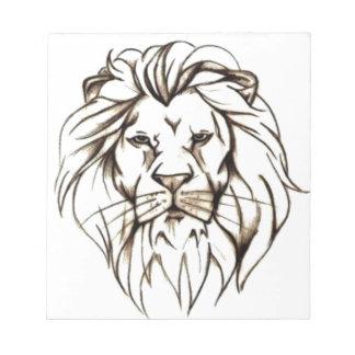 IMG_7779.PNG brave lion design Notepad