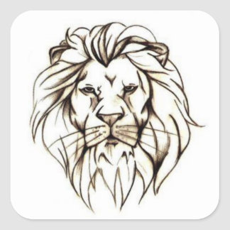 IMG_7779.PNG brave lion design Square Sticker