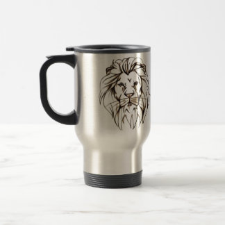 IMG_7779.PNG brave lion design Travel Mug
