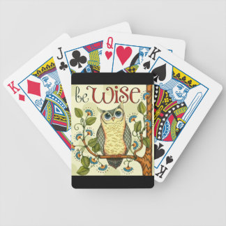 IMG_7786.PNG wise owl customizable design Bicycle Playing Cards