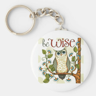 IMG_7786.PNG wise owl customizable design Keychain