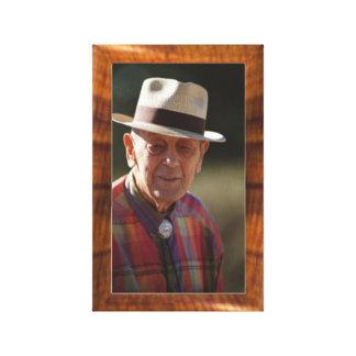 Imitation wood border for 8x10 photo canvas print