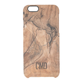 Imitation Wood With Knots Clear iPhone 6/6S Case