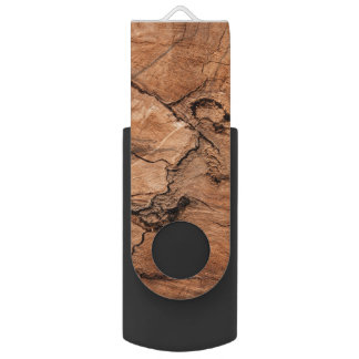 Imitation Wood With Knots Pattern USB Flash Drive