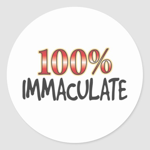 Immaculate 100 Percent Stickers