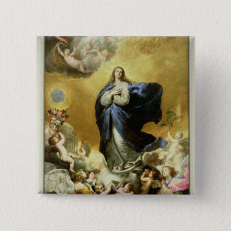 Immaculate Conception, 1635 2 Inch Square Button