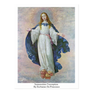 Immaculate Conception By Zurbaran De Francisco Postcard