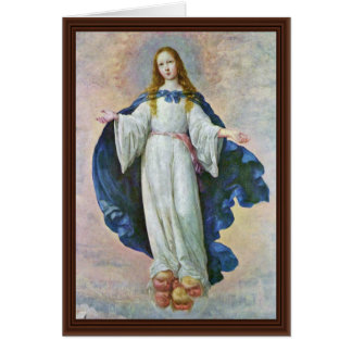 Immaculate Conception,  By Zurbarán Francisco De Card