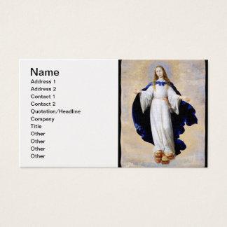 Immaculate Conception Cloud and Cherub - Zurbaran Business Card
