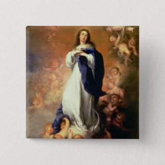 Immaculate Conception of the Escorial, c.1678 2 Inch Square Button