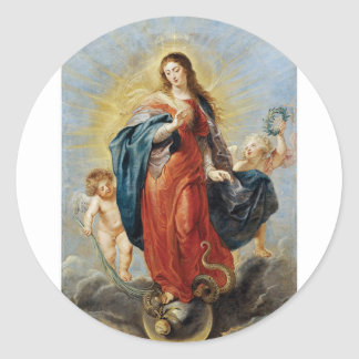 Immaculate Conception - Peter Paul Rubens Classic Round Sticker