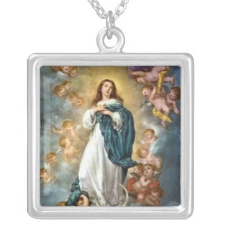 Immaculate Conception Silver Plated Necklace