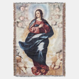 Immaculate Conception Virgin Mary Assumption 03 Throw Blanket