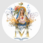 Immaculate Heart of Mary Classic Round Sticker