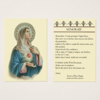 Immaculate Heart of Mary Memorare Holy Card