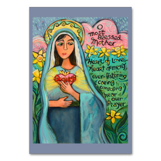 Immaculate Heart of Mary, Memorare Prayer Card