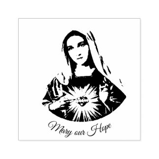 Immaculate Heart of Mary  our Hope Rubber Stamp
