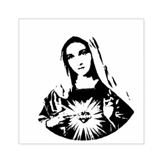 Immaculate Heart of Mary  Sorrowful Mother Rubber Stamp
