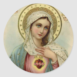 Immaculate Heart of Virgin Mary Classic Round Sticker