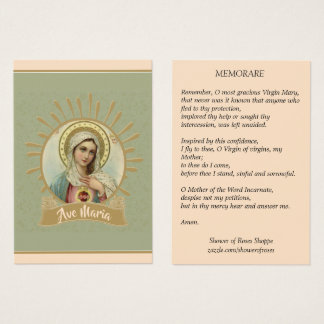 Immaculate Mary Memorare Holy Card