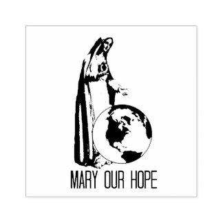 Immaculate Mary our Hope Fatima Rubber Stamp