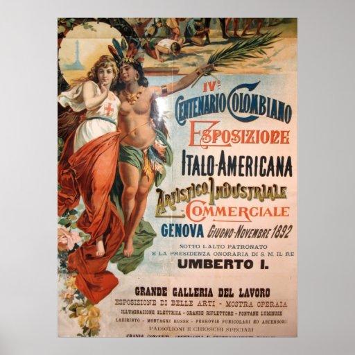 Immagine da Genova, Italia. 1892 Poster