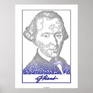 Immanuel Kant. Founder of German philosophy. [002] Poster