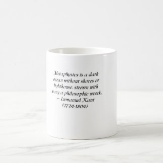 Immanuel Kant on metaphysics and philosophy Coffee Mug