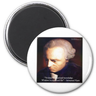 Immanuel Kant Science Vs Knowledge Quote Gifts Magnet
