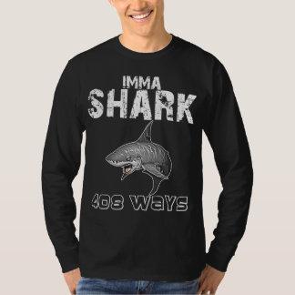 IMMASHARK/FUCKTHEWORLD WHT/BLK T-Shirt
