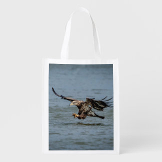 Immature Bald Eagle diving for a fish Market Tote