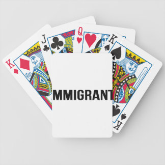 Immigrant - US USA America Resist Support Protest Bicycle Playing Cards