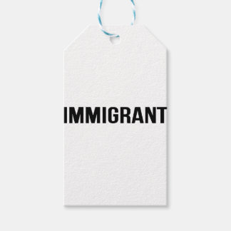 Immigrant - US USA America Resist Support Protest Pack Of Gift Tags