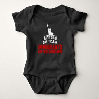 Immigrants Welcome Dark Baby Bodysuit