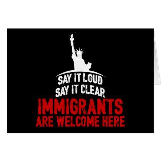 Immigrants Welcome Dark Greeting Card