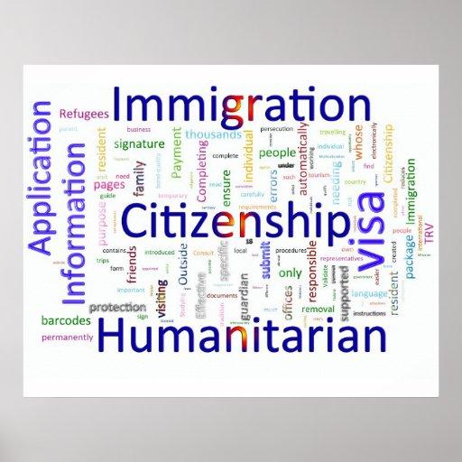 Immigration et texte relatif de citoyenneté posters