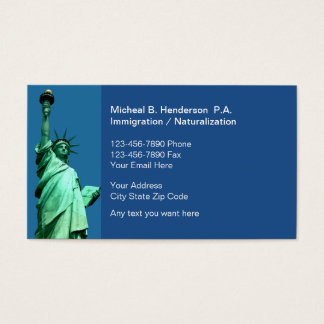 Immigration Law Business Cards