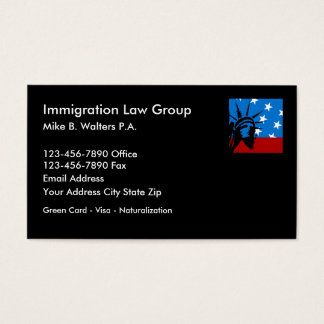 Immigration Lawyer Businesscards Business Card