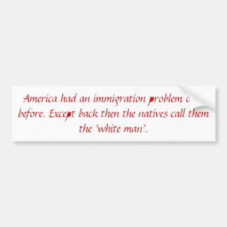 Immigration Problem Bumper Sticker