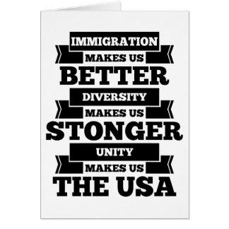 Immigration U.S.A. Card