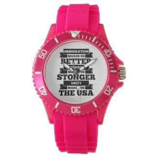 Immigration U.S.A. Wrist Watches